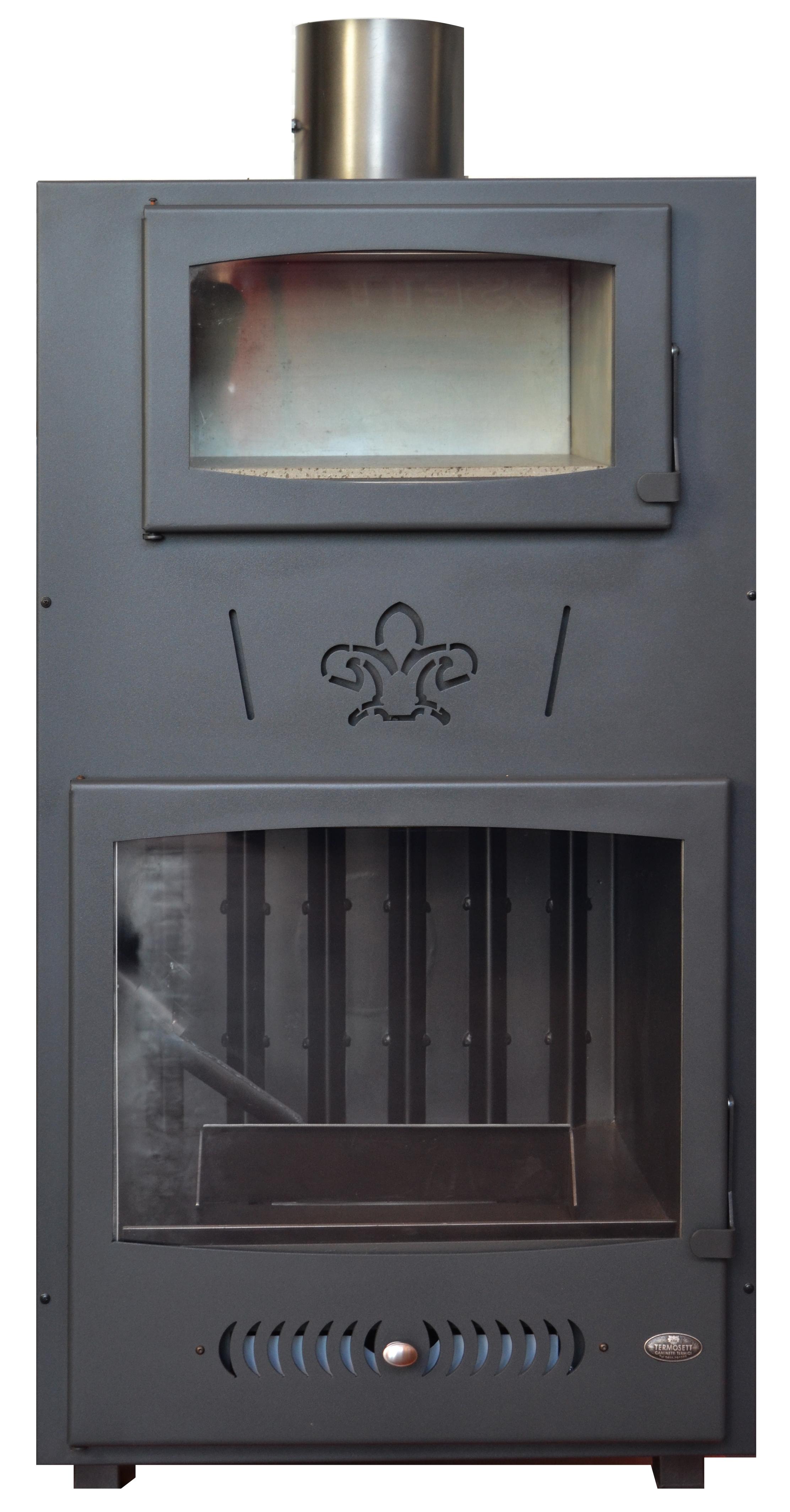 Caminetto frontale legna tronchetti termosett - Camino con forno ...